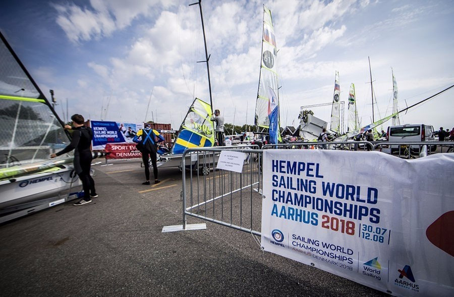 Over 370 sailors from 54 nations are participating at the test event ©World Sailing