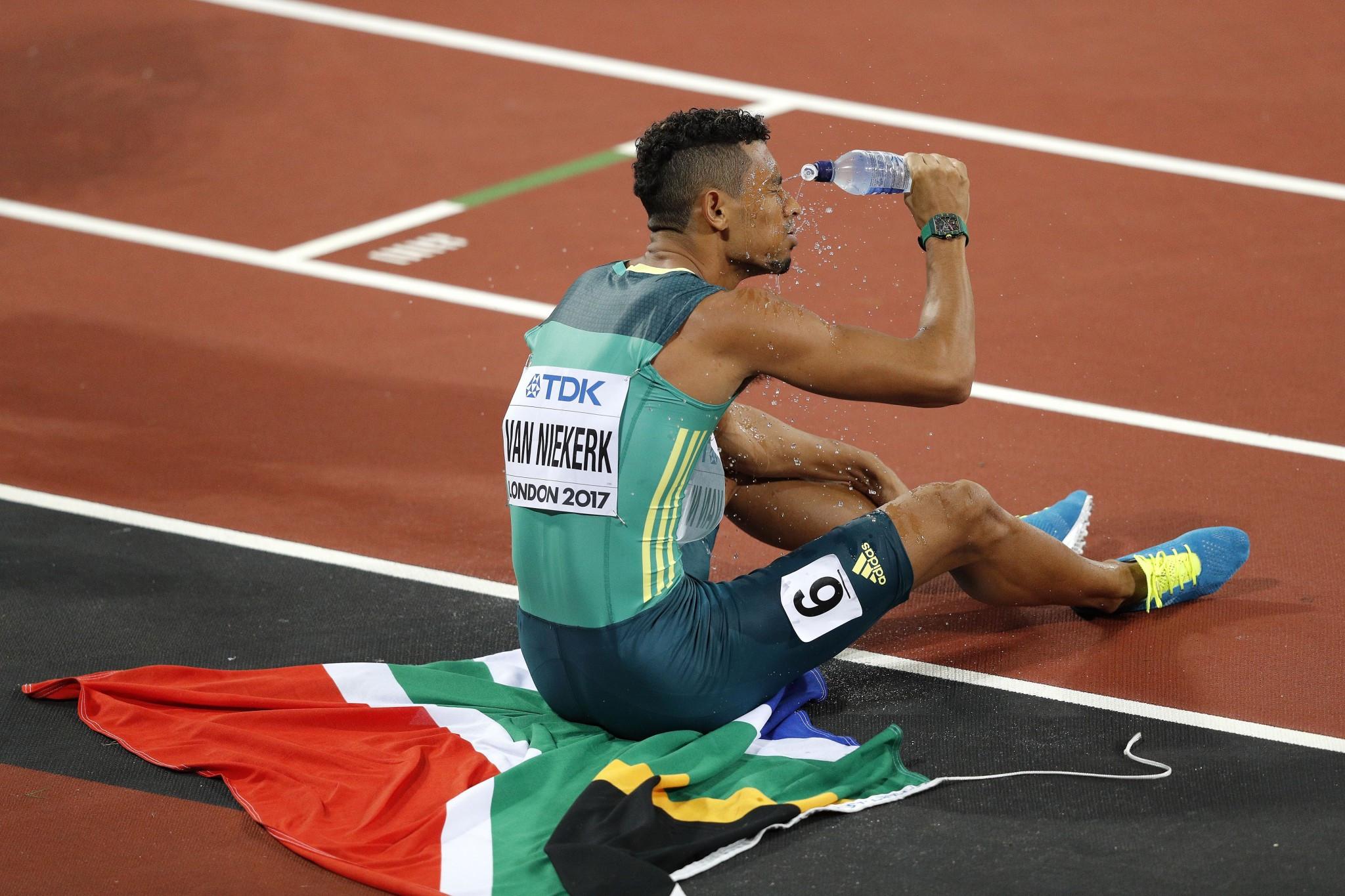 South Africa's Wayde van Niekerk cut an exhausted figure after winning the 400m ©Getty Images