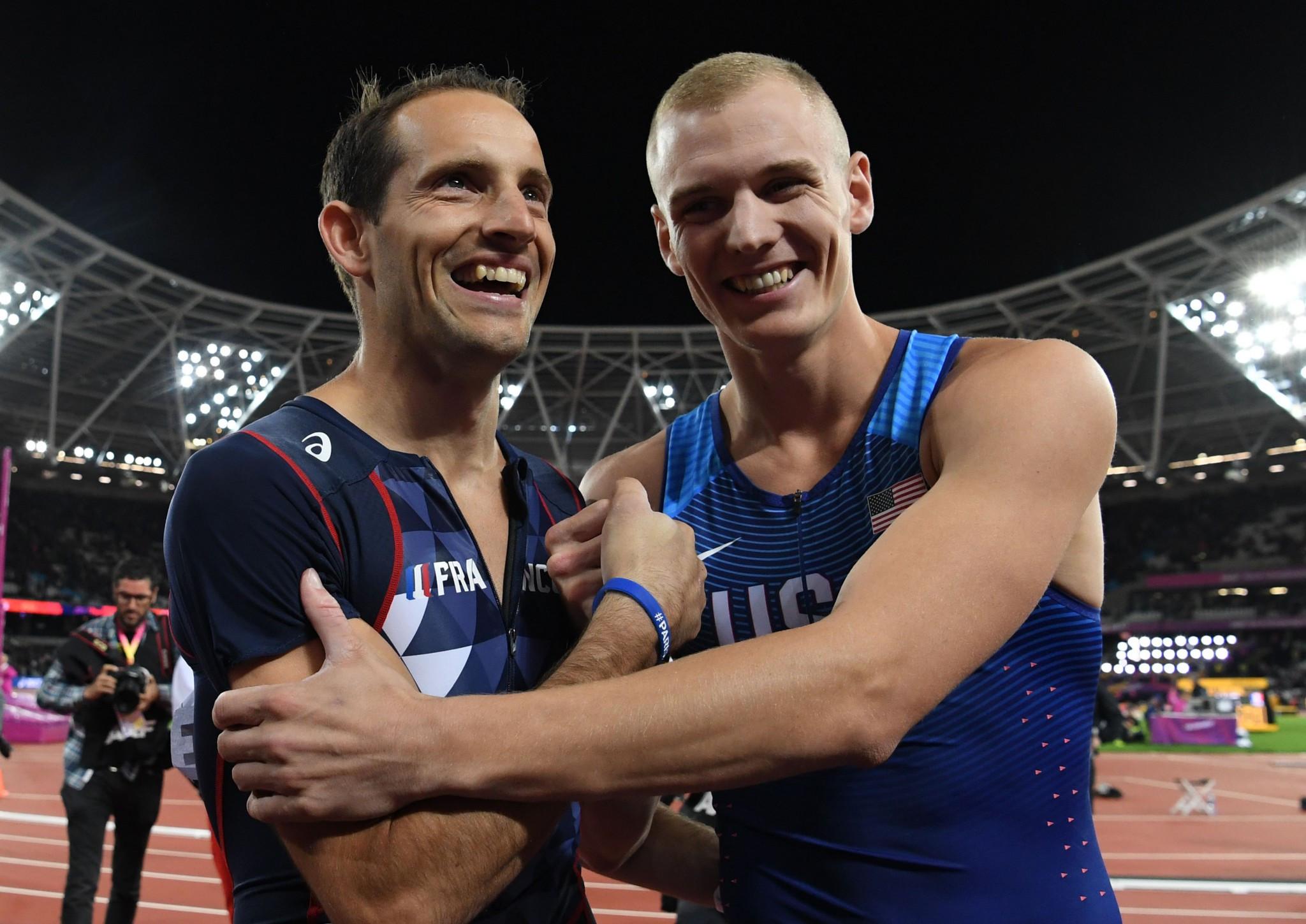 Kendricks wins men's pole vault title at athletics worlds