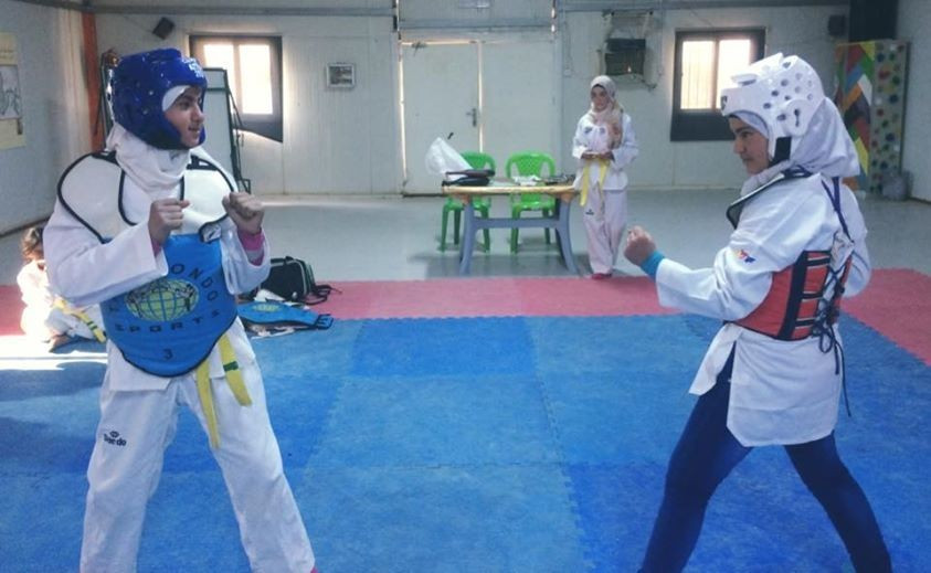 Refugees around the world have taken up taekwondo thanks to the THF ©THF