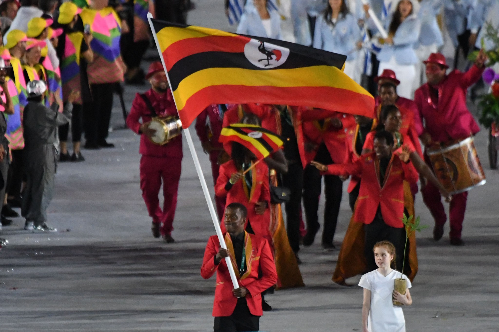 Ugandan athletes marching in the Opening Ceremony of the Rio 2016 Olympic Games ©Getty Images