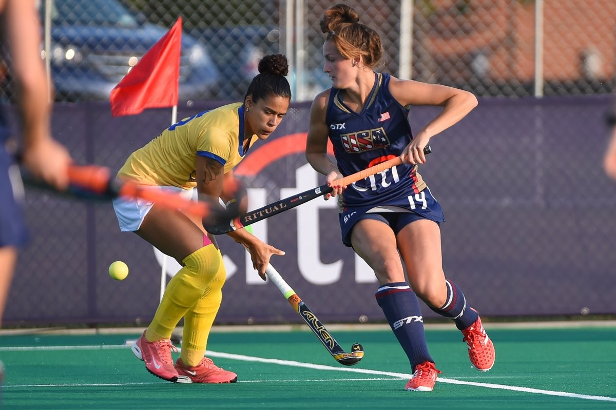 Hosts United States thrash Brazil to win pool at Pan American Hockey Cup