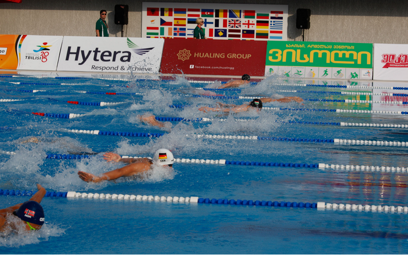 Several swimming medals were decided on the opening day of the Tbilisi 2015 European Youth Olympic Festival ©Tbilisi 2015