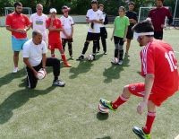 The project has seen up to 40 countries in Europe develop some form of blind football programme ©IBSA
