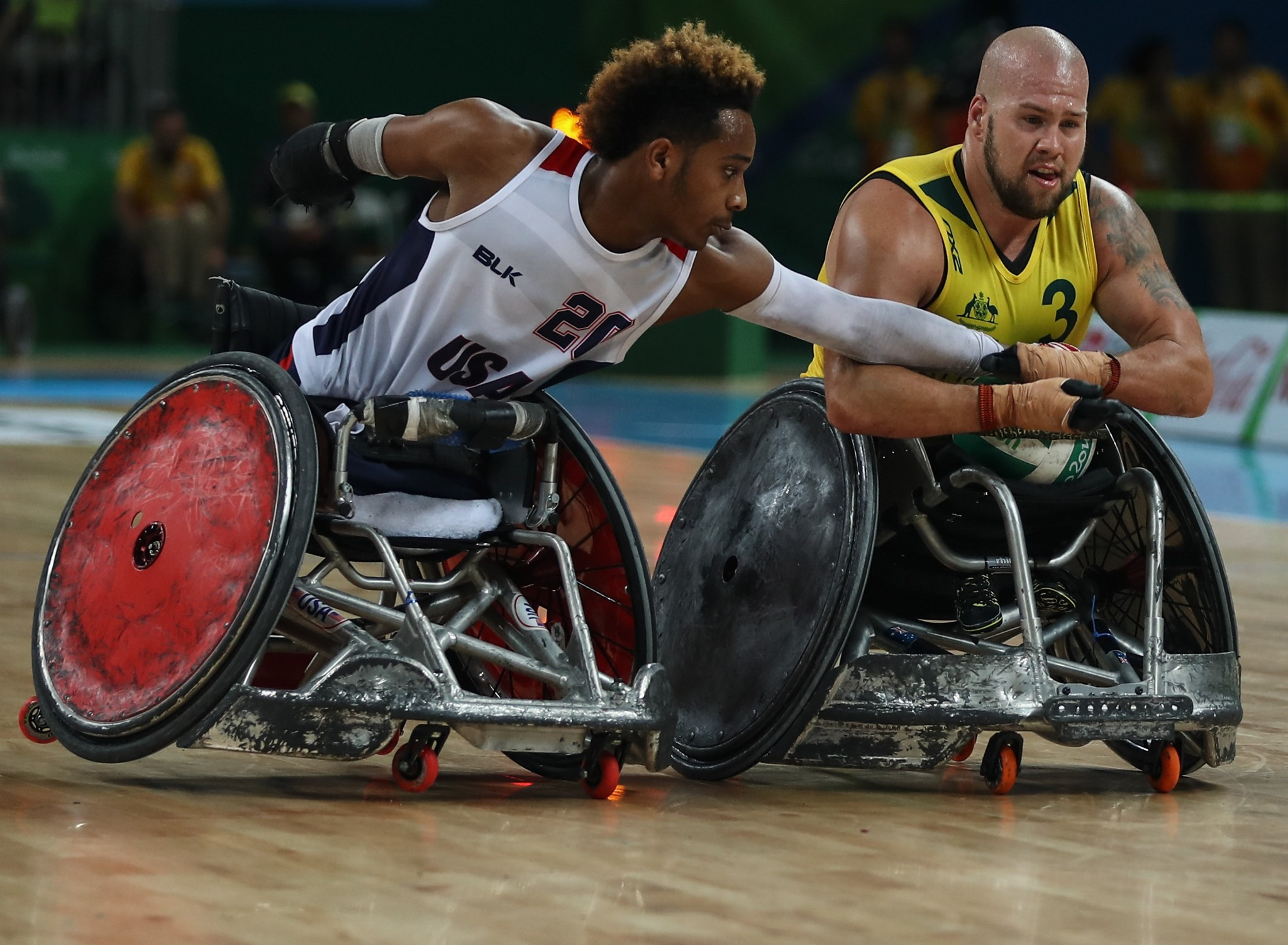Image result for wheelchair rugby