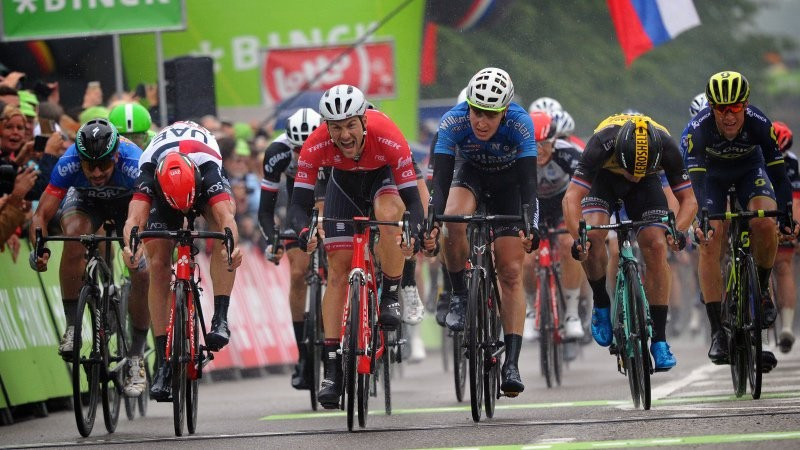Edward Theuns earned a sprint victory on stage four ©Twitter/BinckBankTour