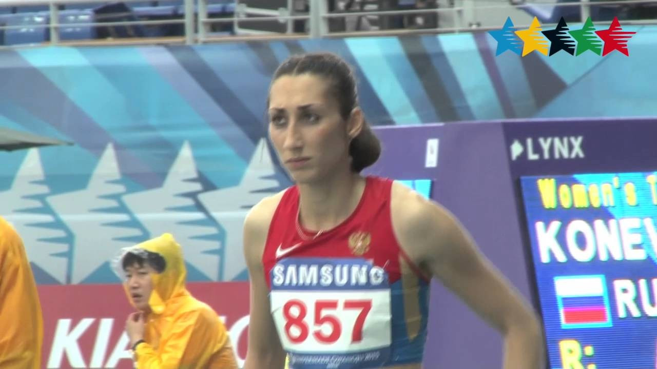 Yekaterina Koneva was one of 12 Russian gold medallists in athletics at the 2015 Universiade in Gwangju ©YouTube
