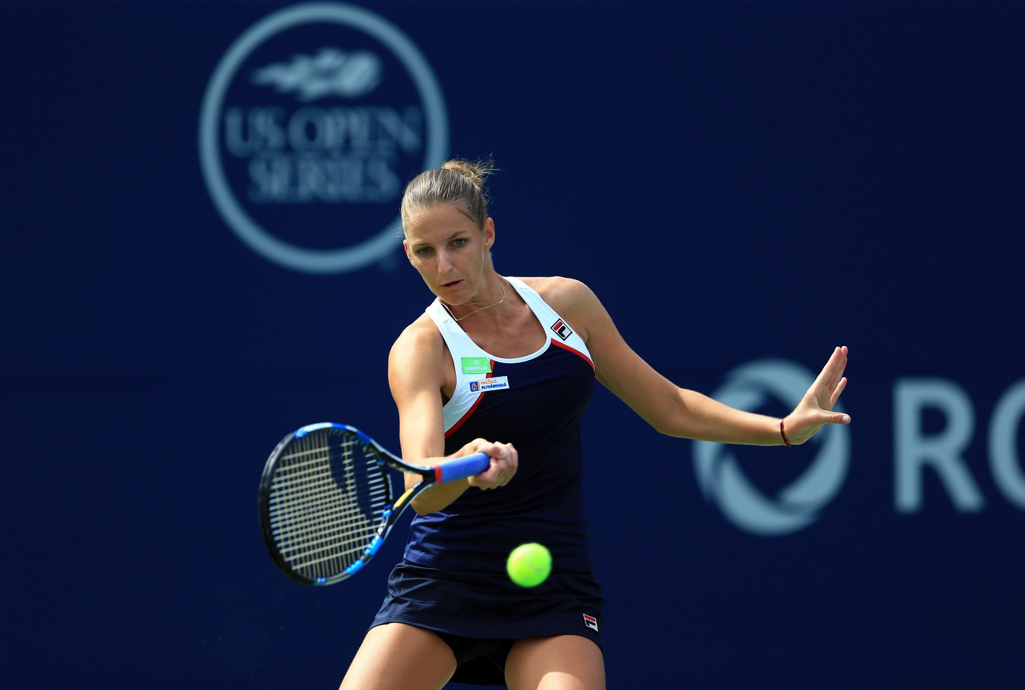 World number one Karolina Pliskova is through to the quarter-finals of the women's event in Toronto