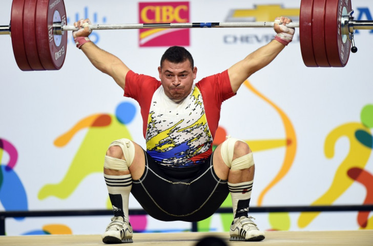 Jesus Gonzalez Barrios is set to be stripped of his under 105kg weightlifting gold medal ©Getty Images