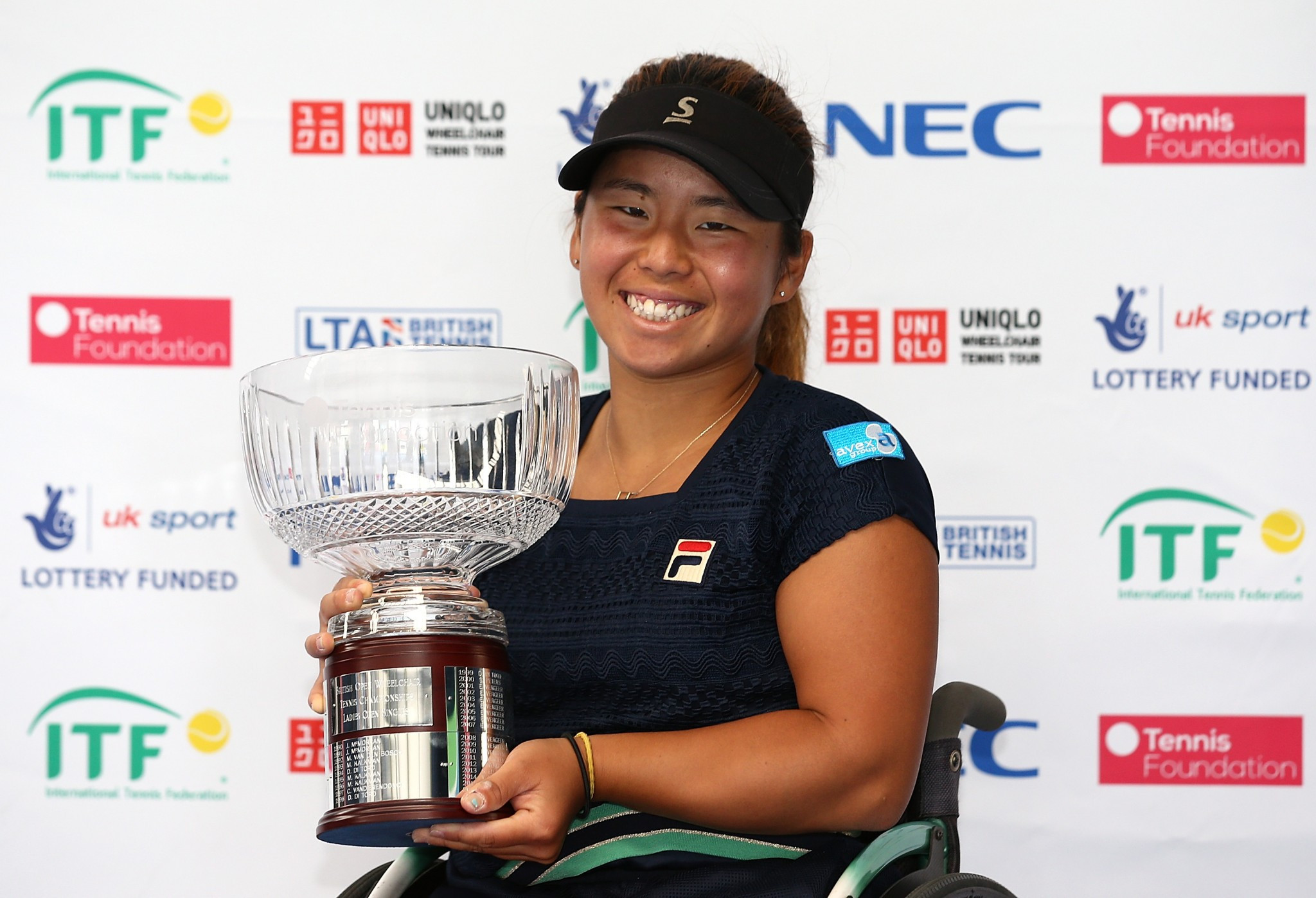 Yui Kamiji has stayed in first place of the ITF wheelchair tennis women's rankings ©Getty Images