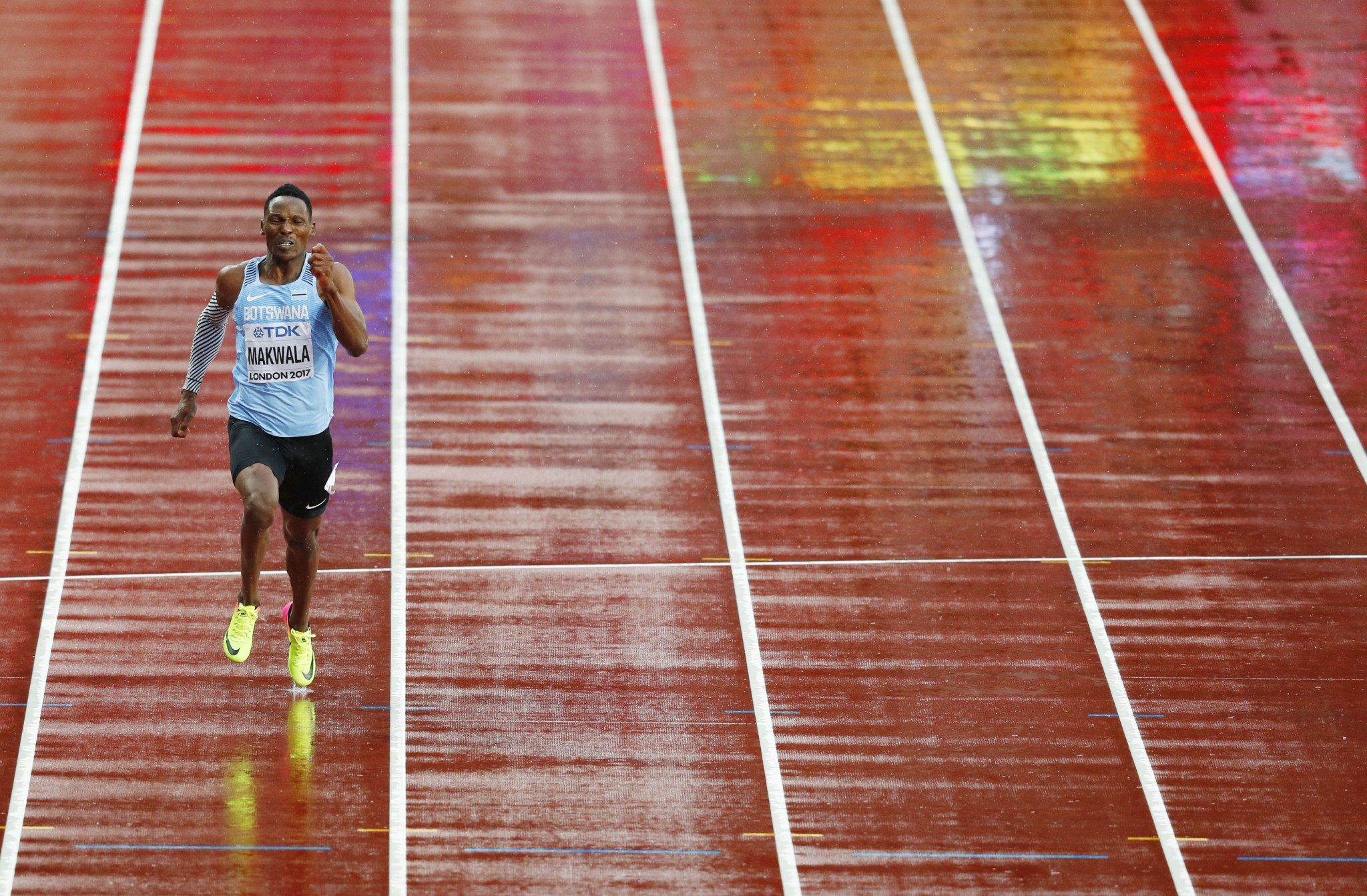 Botswana's Isaac Makwala was made to run his men's 200m heat by himself on Wednesday at the IAAF World Championships in London ©Getty Images