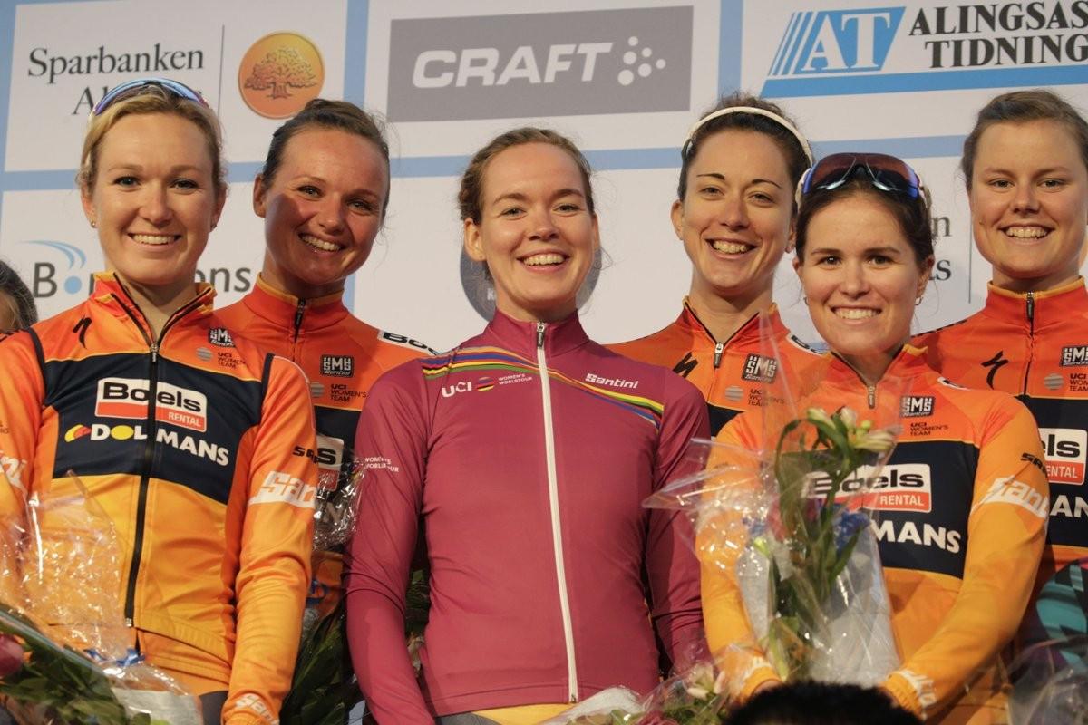 Boels-Dolmans record best team time trial time at Crescent Vargarda