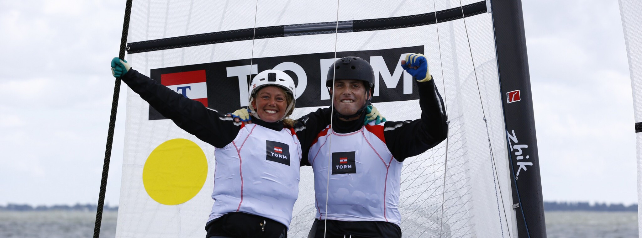 Cenholt and Lubeck among Danish leaders at home World Sailing Championships test event
