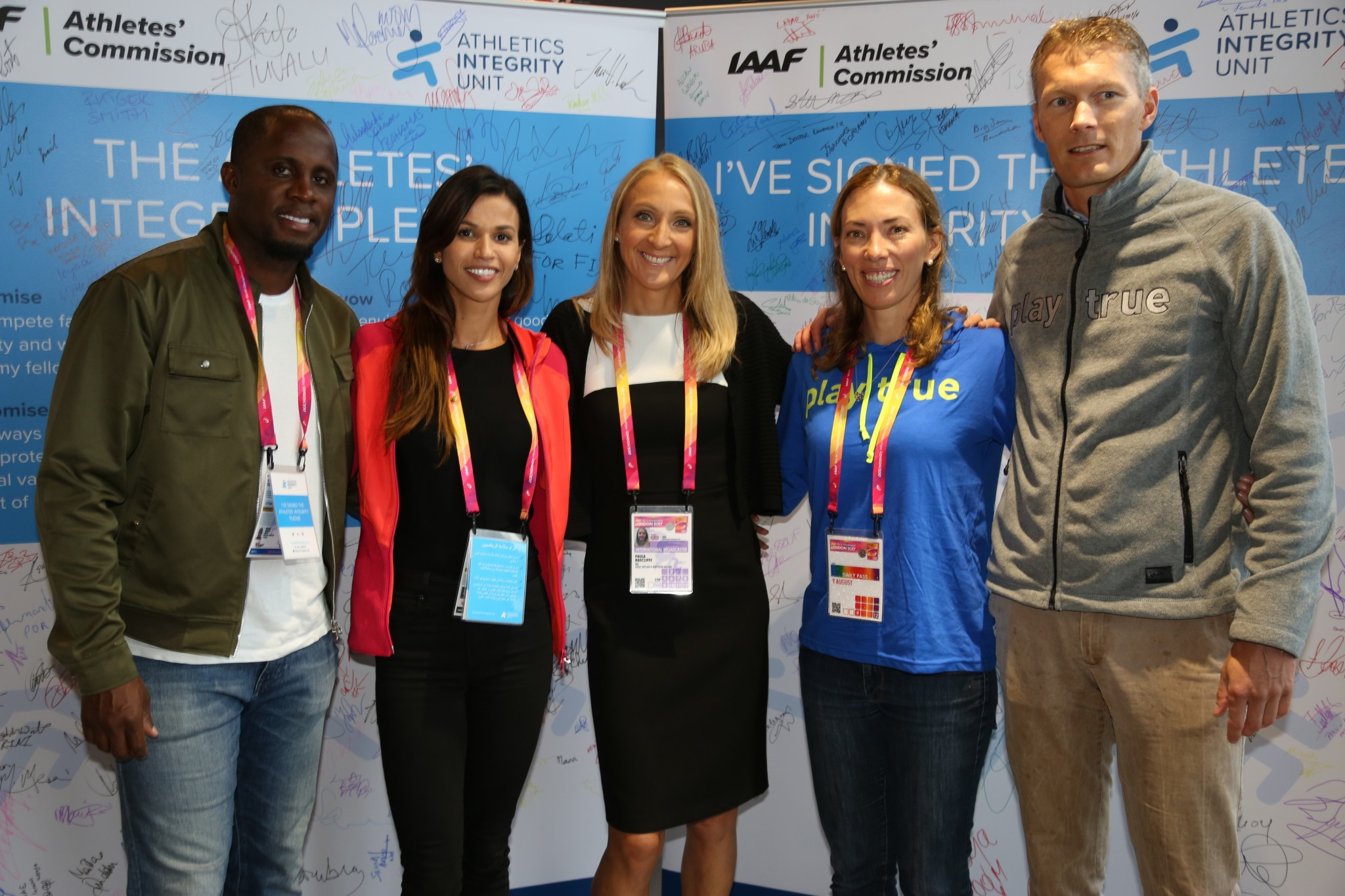 Beckie Scott, second right, met with members of the IAAF Athletes' Commission and Athletes Integrity Unit ©WADA
