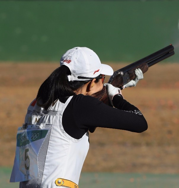 Wei Meng of China won the women's skeet title today ©Getty Images
