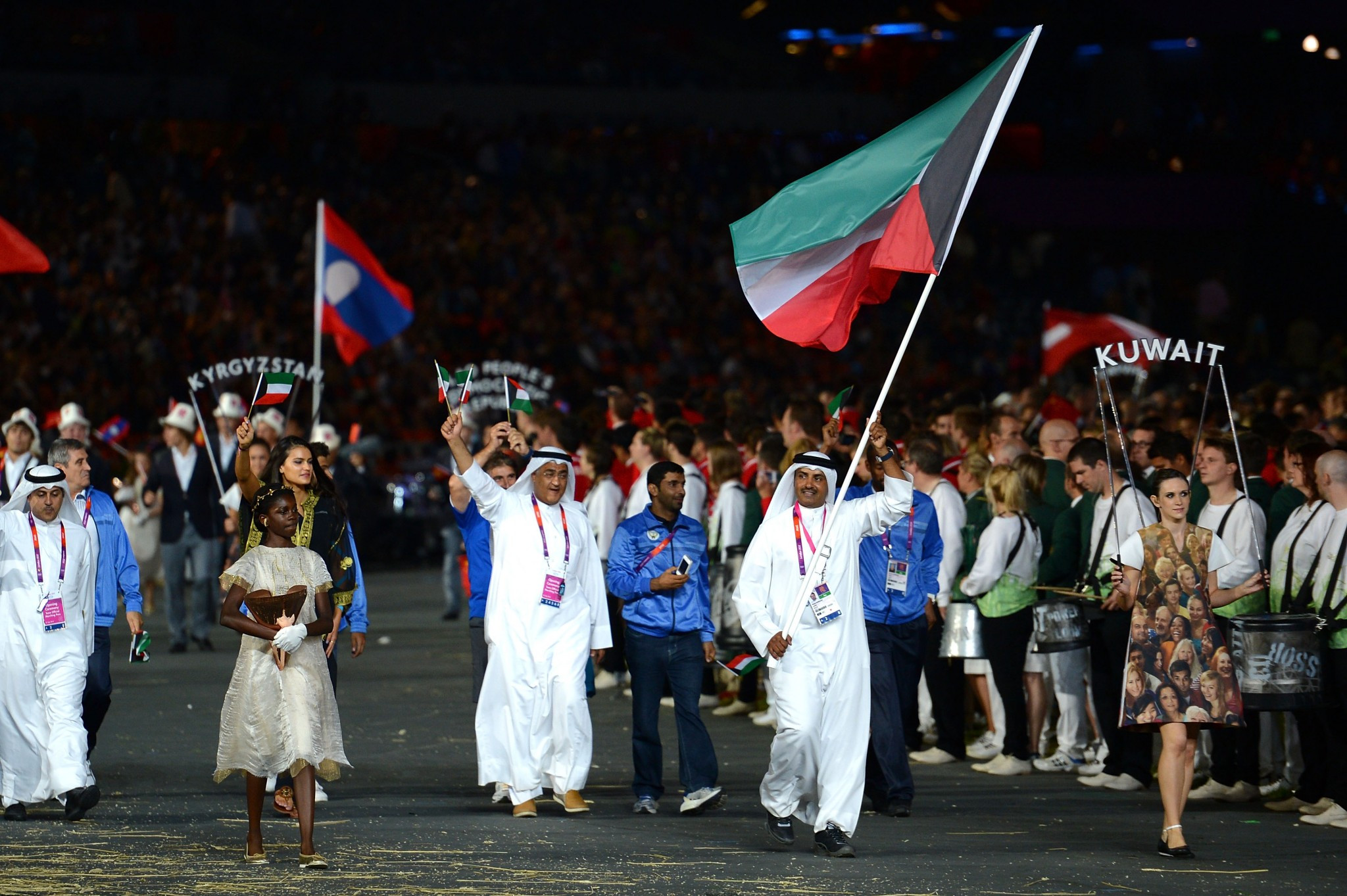 Kuwait, pictured marching at the Opening Ceremony of Rio 2016, are currently unable to compete under their own flag at the Olympics ©Getty Images