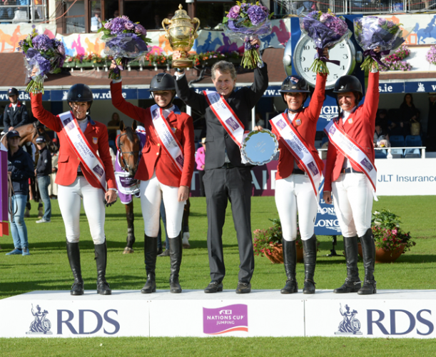 United States celebrate their victory in Dublin ©FEI/Christophe Taniere