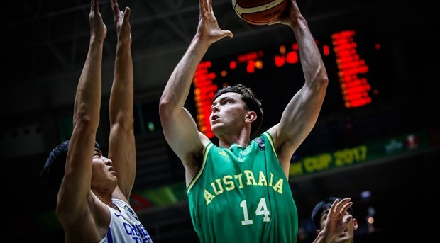 Australia secured their place in the International Basketball Federation Asia Cup quarter-finals with a comfortable win over Chinese Taipei in Beirut today ©FIBA