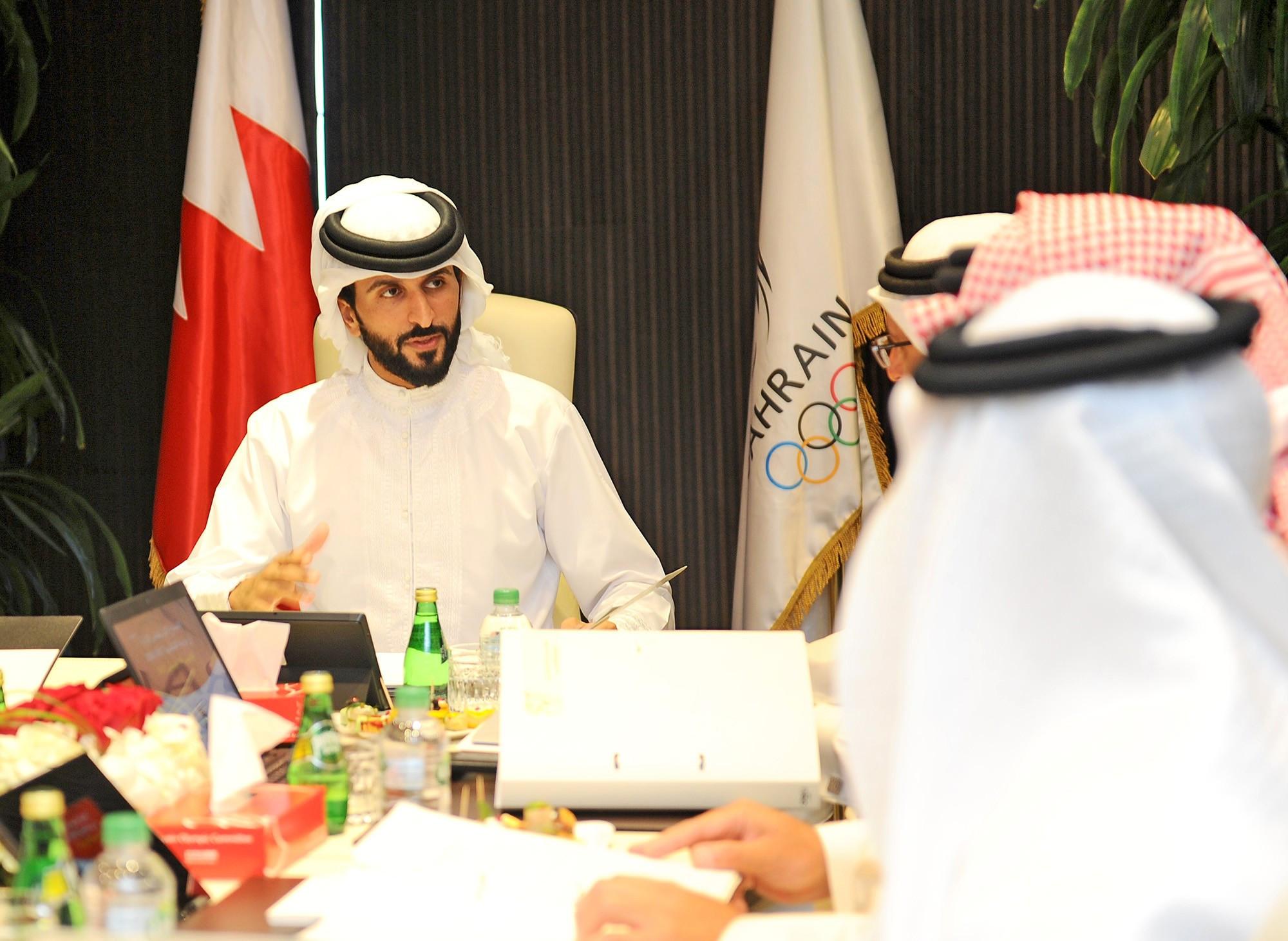 Sheikh Nasser bin Hamad Al Khalifa chaired the BOC's meeting ©BOC