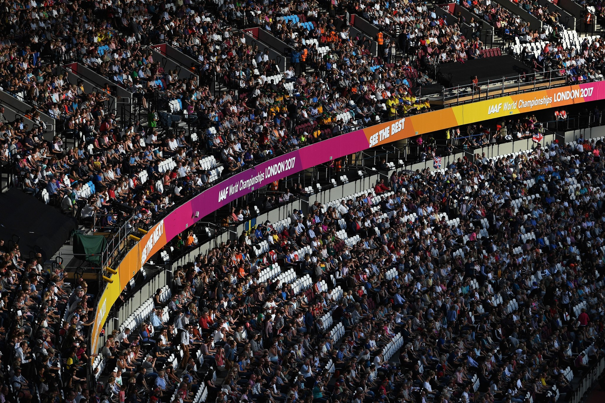 Every day of competition has been watched by a huge crowd inside the Olympic Stadium ©Getty Images