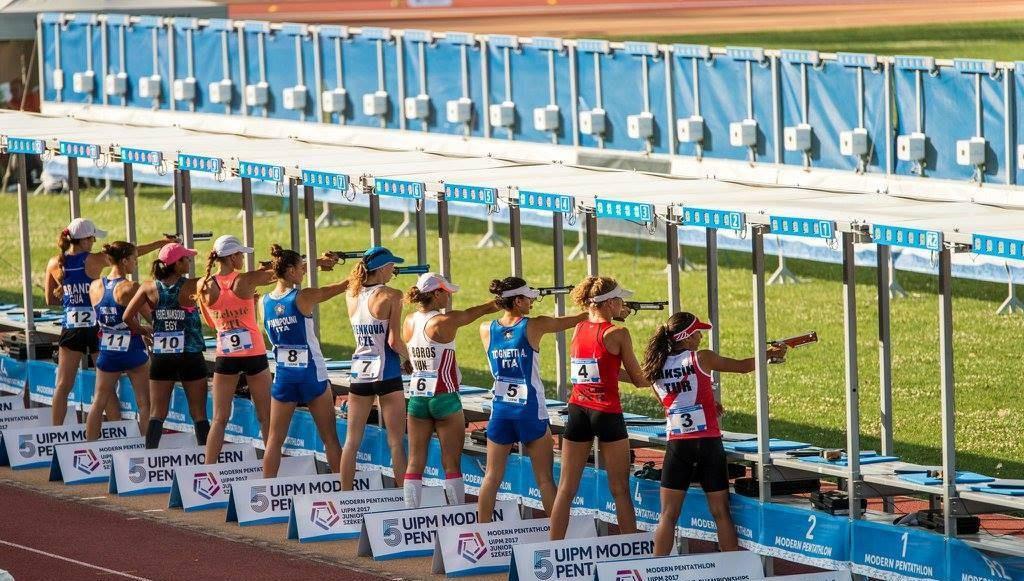 A total of 36 pentathletes competed in the women's individual final ©UIPM