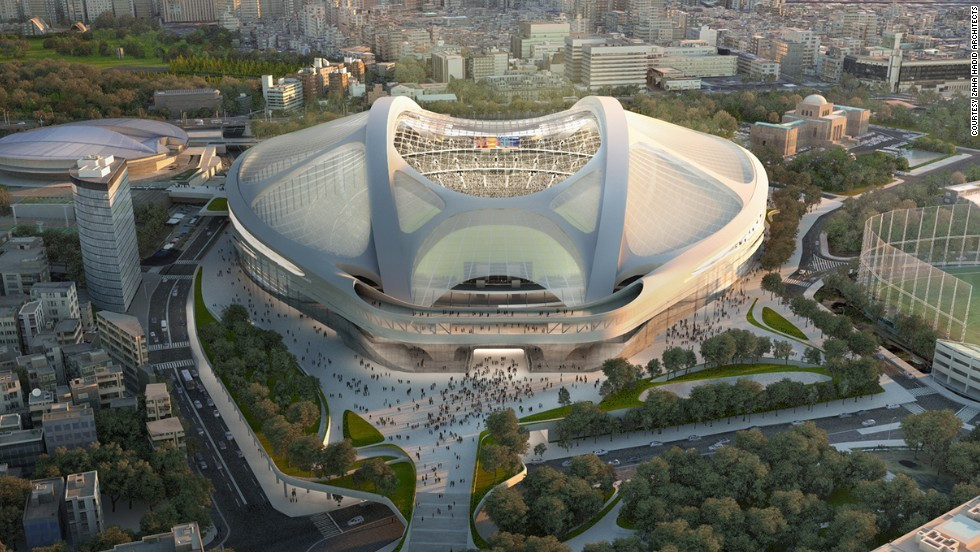 Zaha Hadid's controversial design for the new National Stadium, the centrepiece of Tokyo 2020, was scrapped because of the escalating costs