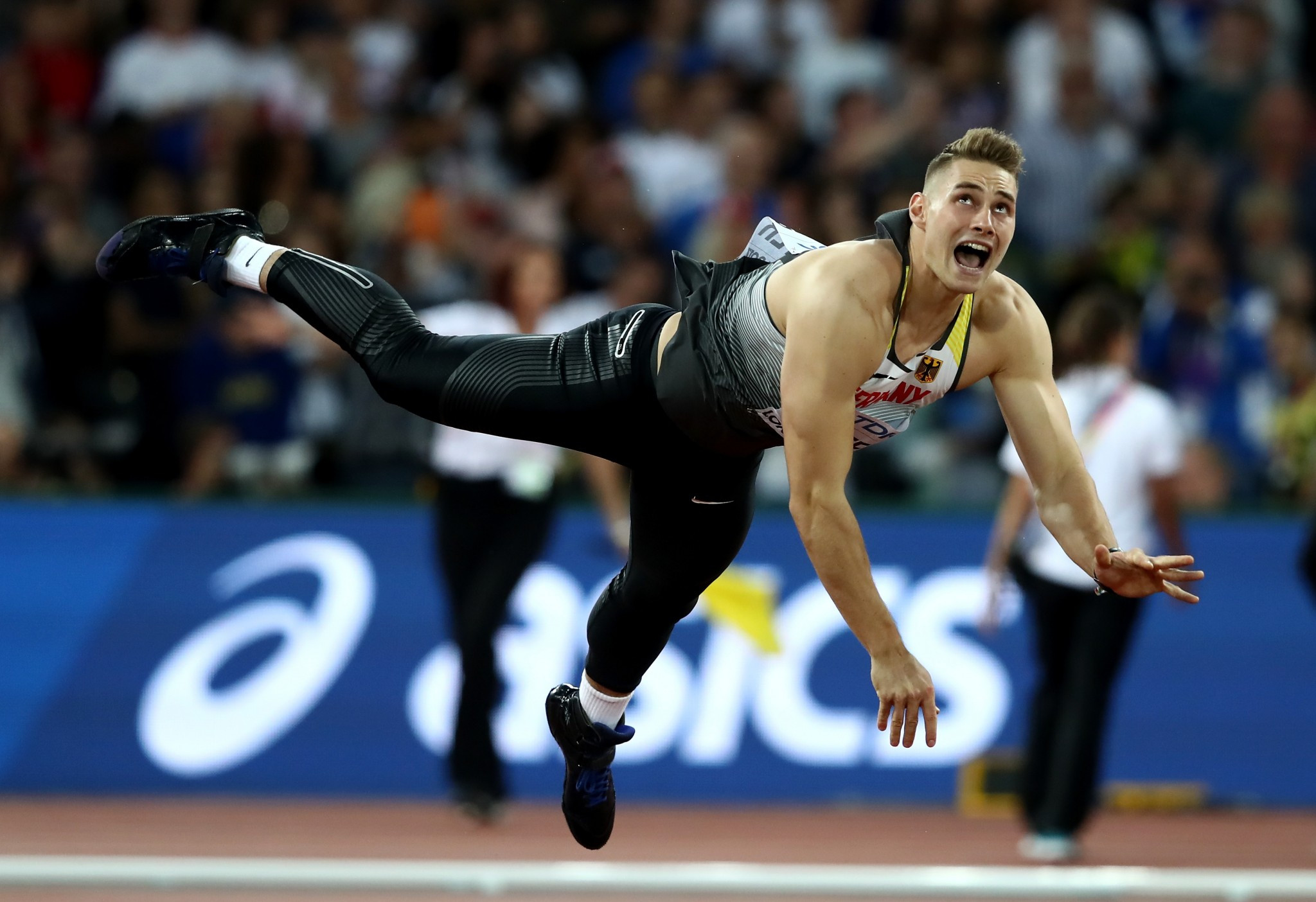 Germany's Johannes Vetter topped the podium in the men's javelin competition