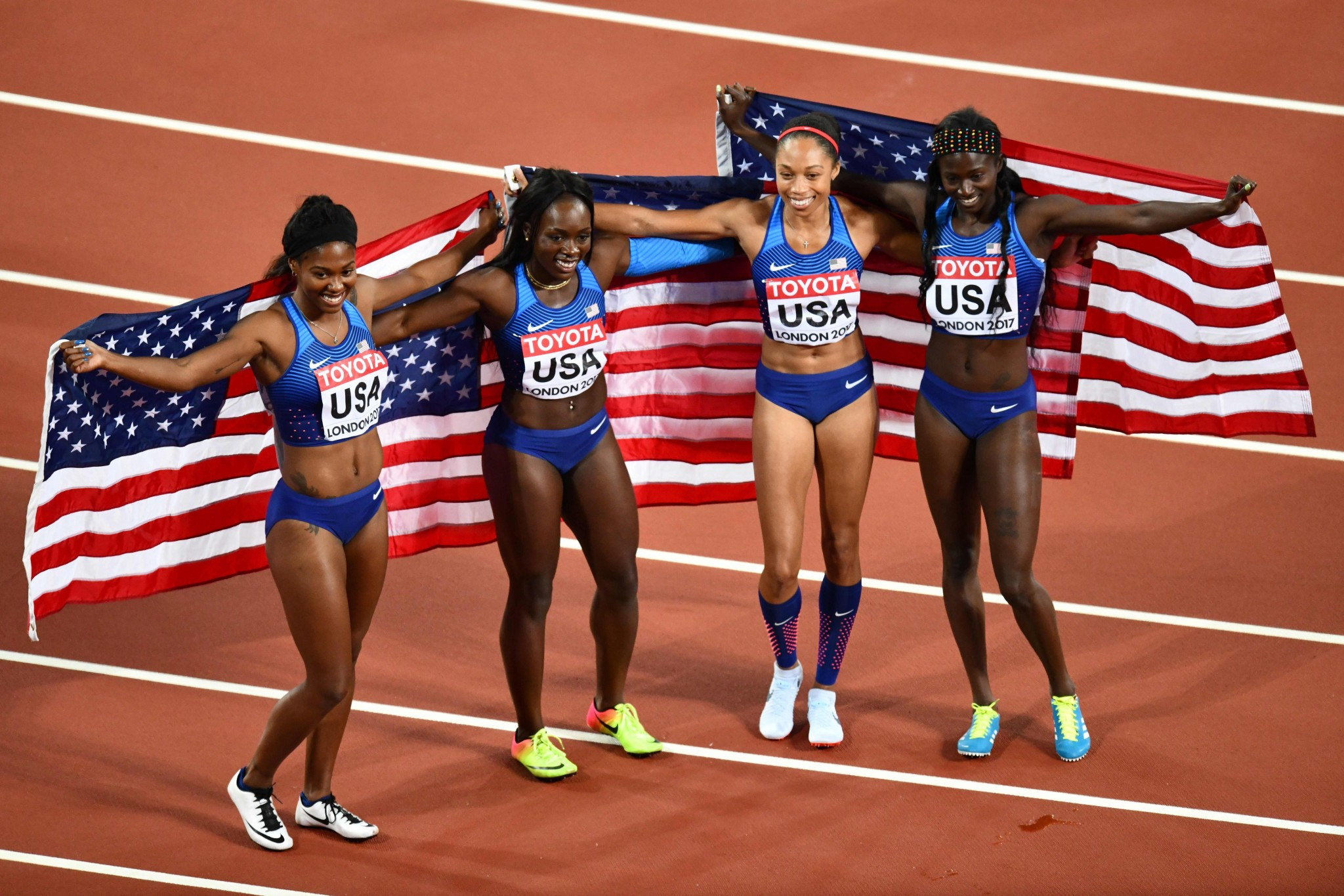 The United States triumphed in the 4x100m relay ©Getty Images