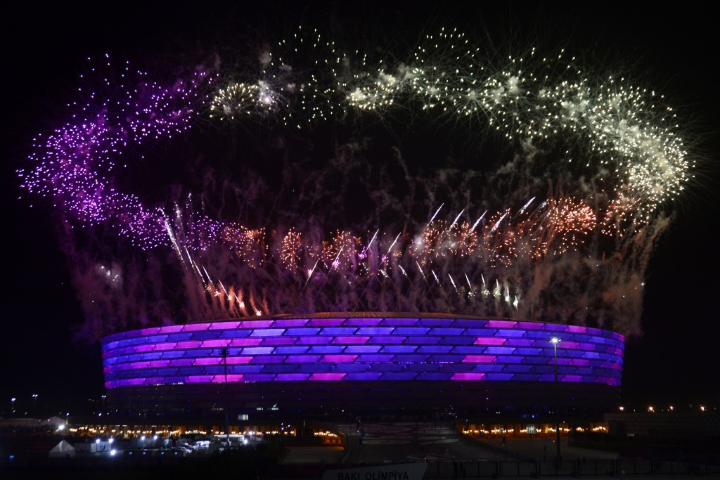 Patrick Hickey praised what he saw as the huge success of last month's European Games in Baku ©AFP/Getty Images