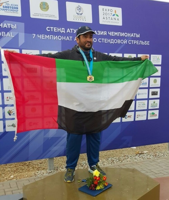 Saif bin Futtais of the United Arab Emirates took gold in the men's skeet ©UAE National Olympic Committee