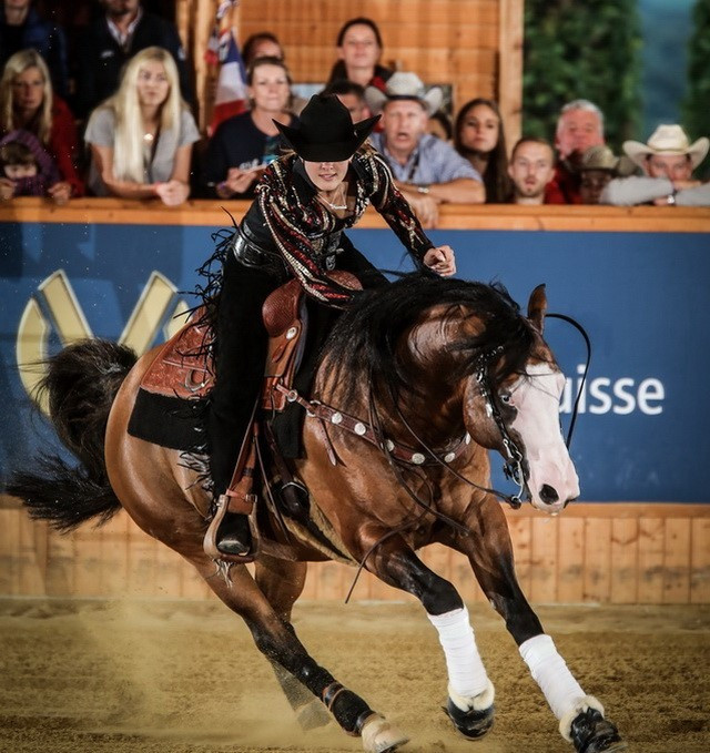 Germany's Gina Schumacher won the young riders competition  ©FEI