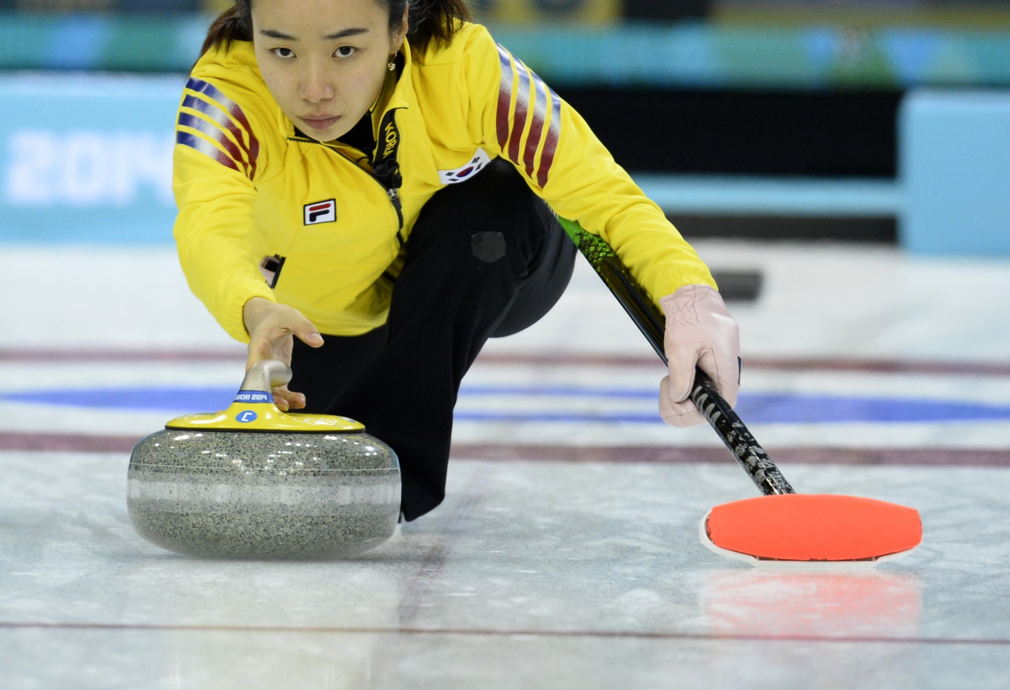 Jisun Kim of South Korea pictured competing at Sochi 2014 ©Getty Images