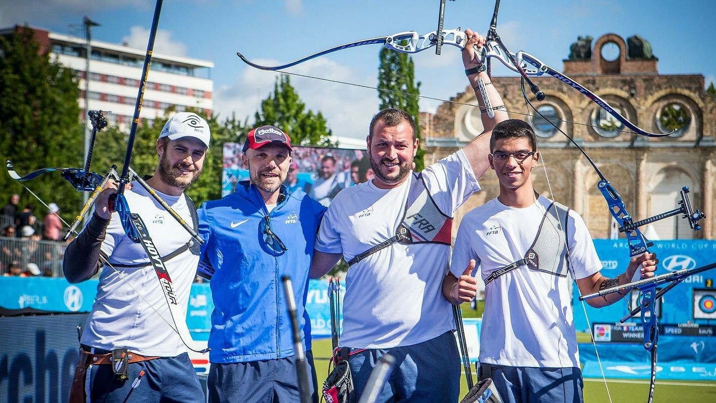 French men prevent South Korean recurve clean sweep at Archery World Cup