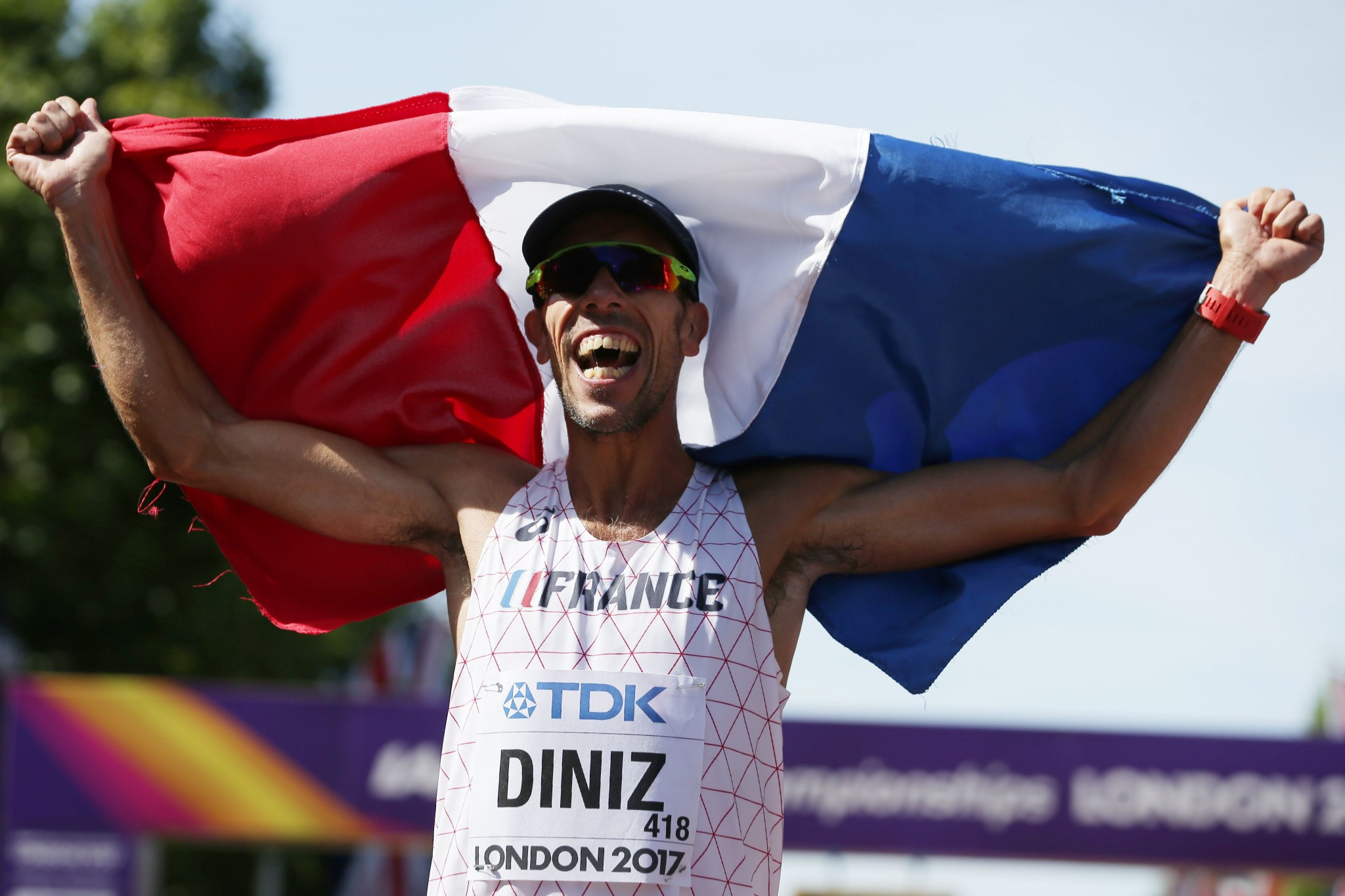 Yohann Diniz of France comfortably won the men's 50km race walk ©Getty Images