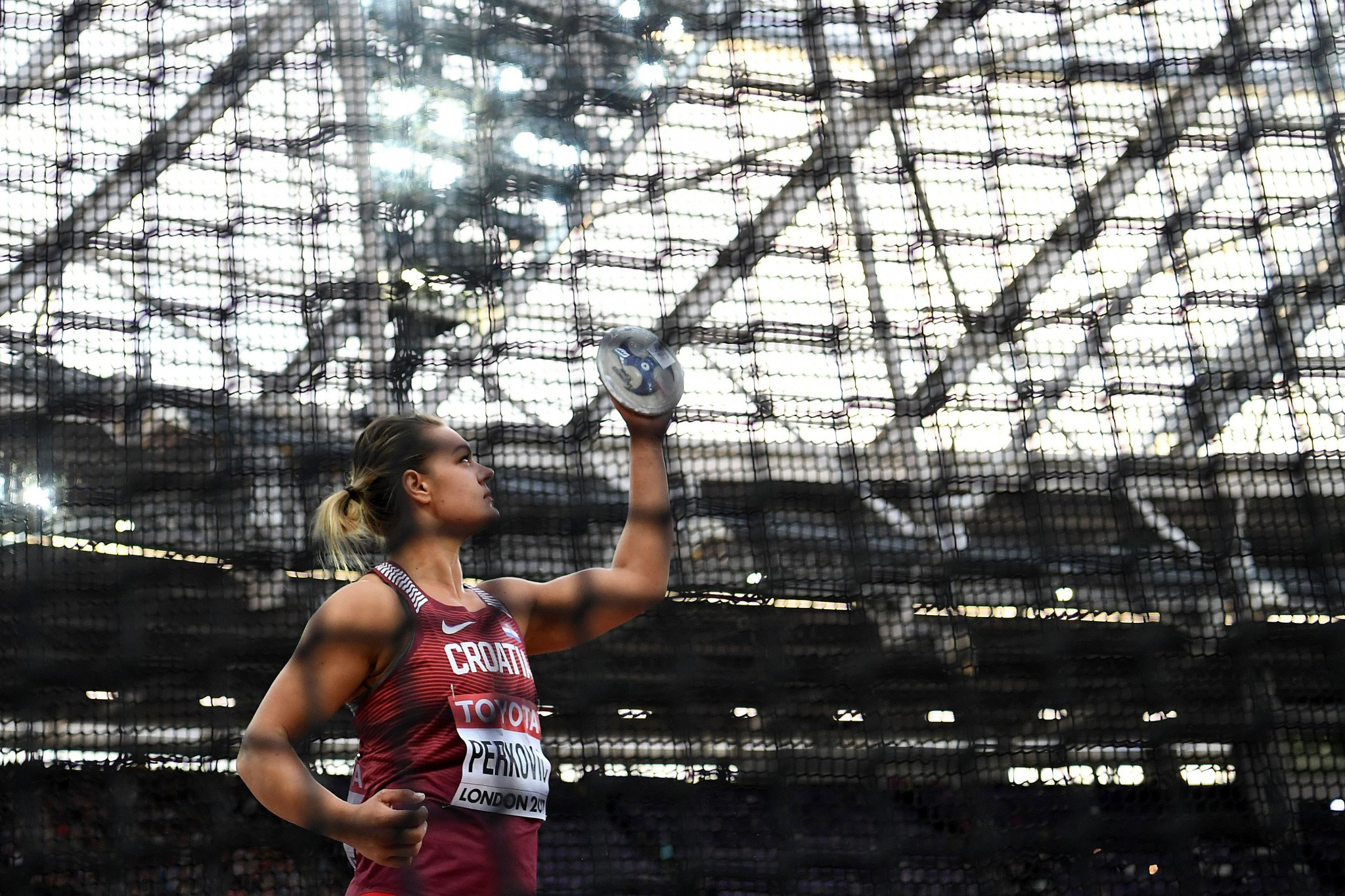Croatia's Sandra Perkovic dominated the women's discus event ©Getty Images