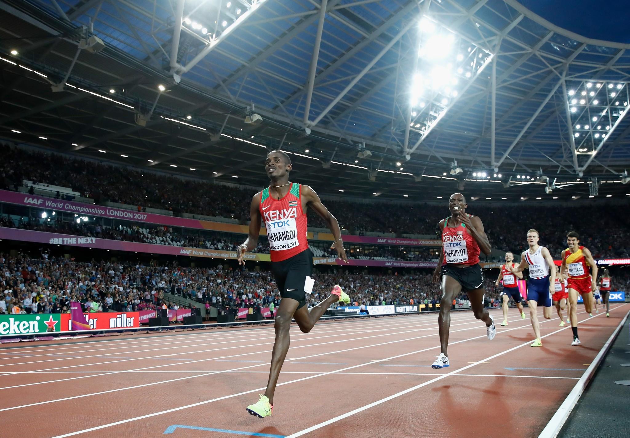 Kenay's Elijah Manangoi sprints to men's 1500m gold ©Getty Images