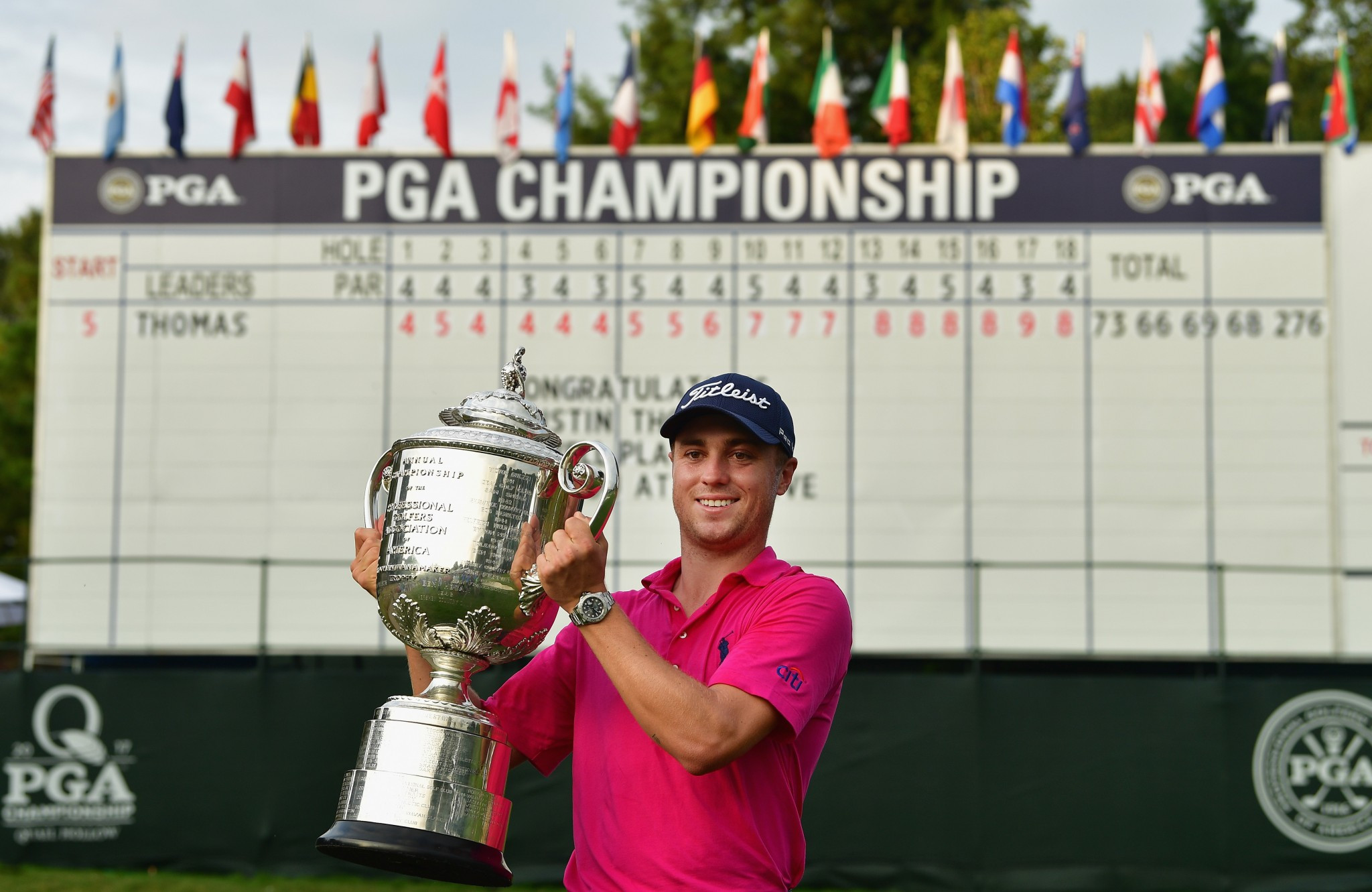 Thomas triumphs at PGA Championship to win first major