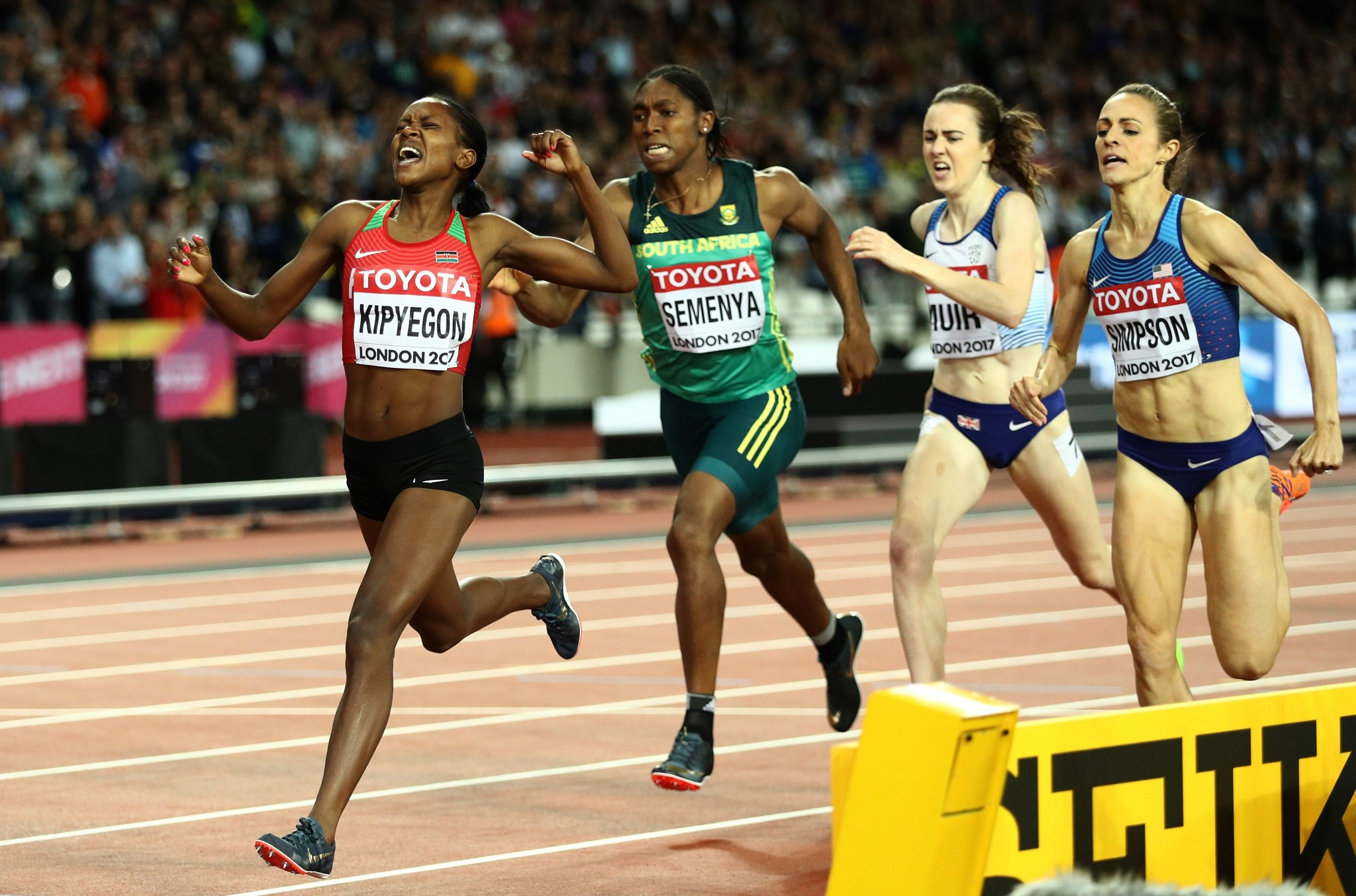 Laura Muir finished fourth in the 1500m at the IAAF World Championships in London ©Getty Images