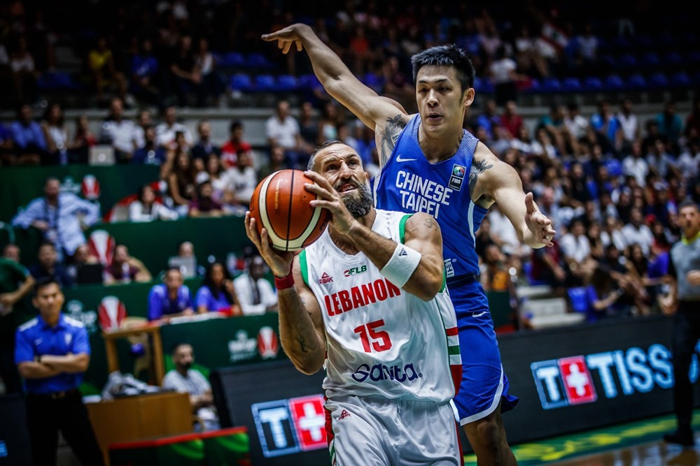 Hosts Lebanon beat Chinese Taipei to reach the last eight ©FIBA