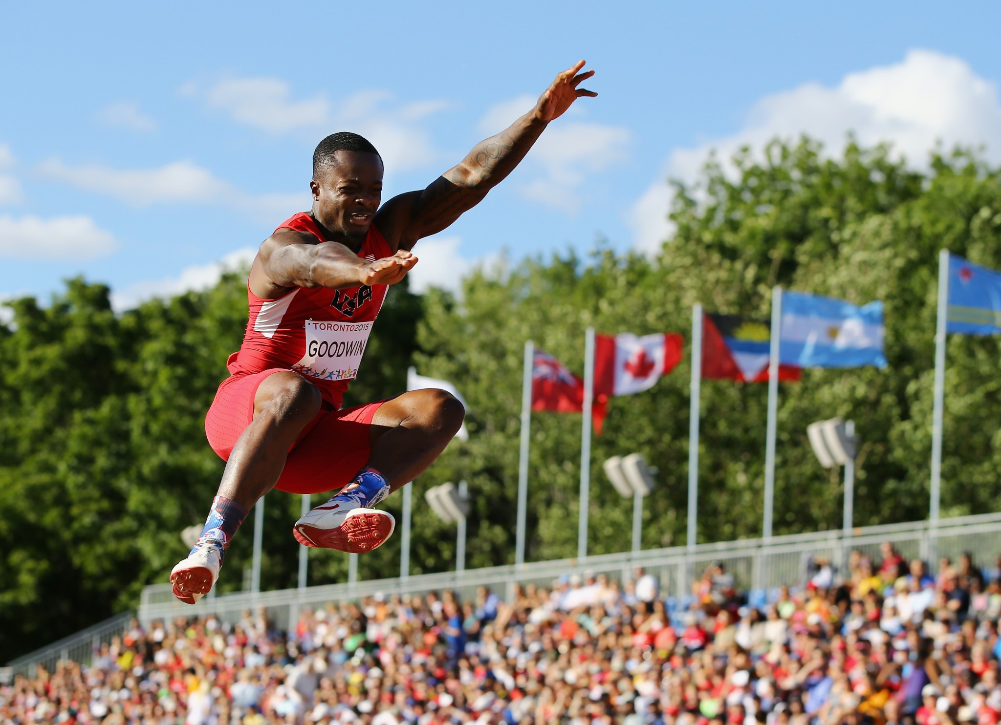 Marquise Goodwin pictured competing at the 2015 Pan American Games ©Getty Images