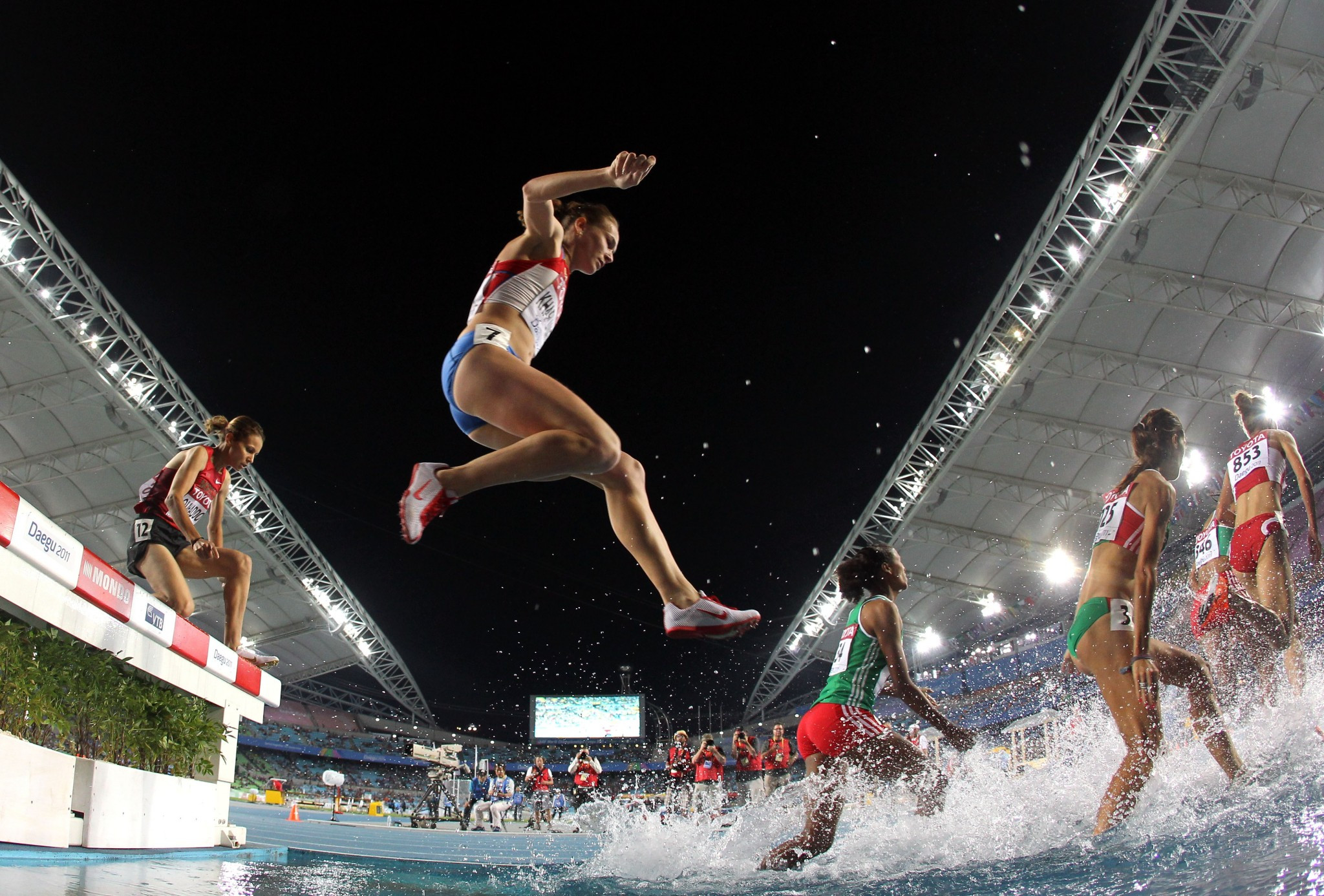 Lyubov Kharlamova also competed at the 2011 World Championships in Daegu in the 3,000m steeplechase ©Getty Images