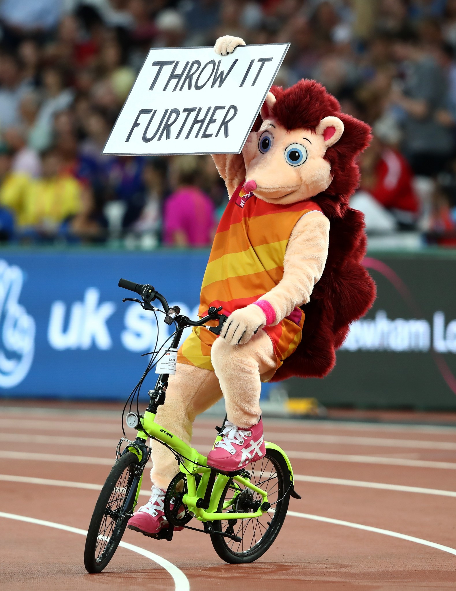 Coaching advice was only a small part of the contribution made to the recent IAAF World Championships in London by the official mascot, Hero the Hedgehog, who has set the bar for