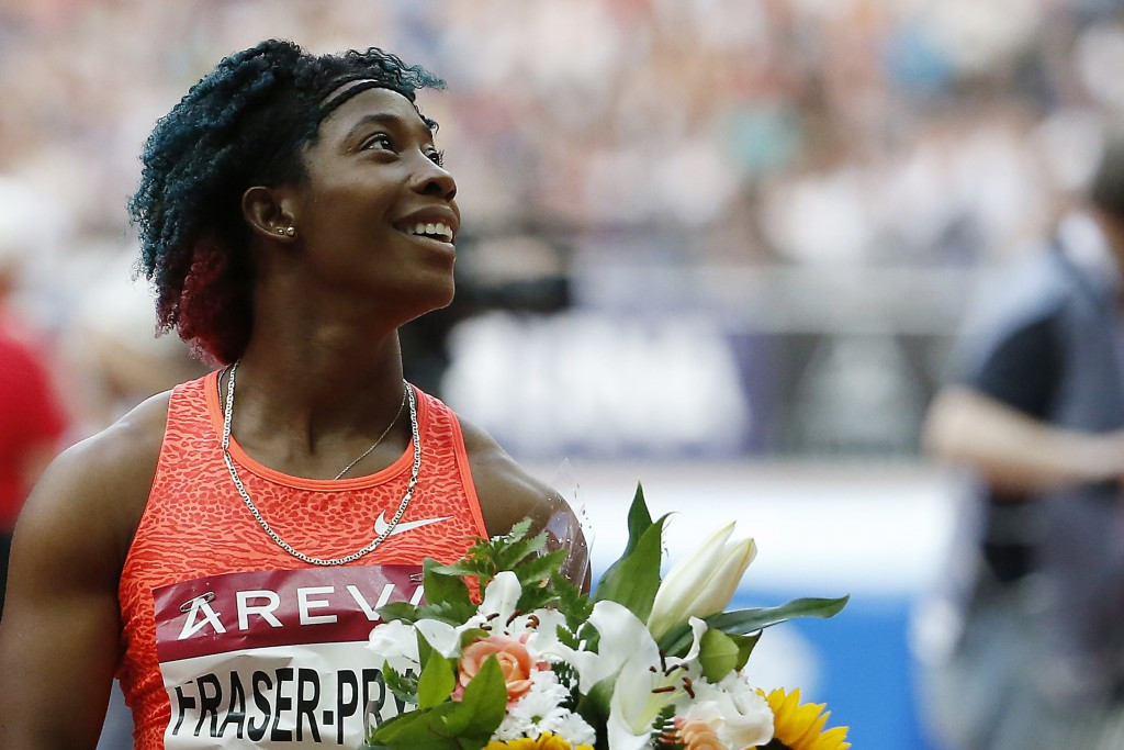 Shelly-Ann Fraser-Pryce produced a convincing performance in the last IAAF Diamond League meeting before the World Championships by winning the 100m in Stockholm ©Getty Images