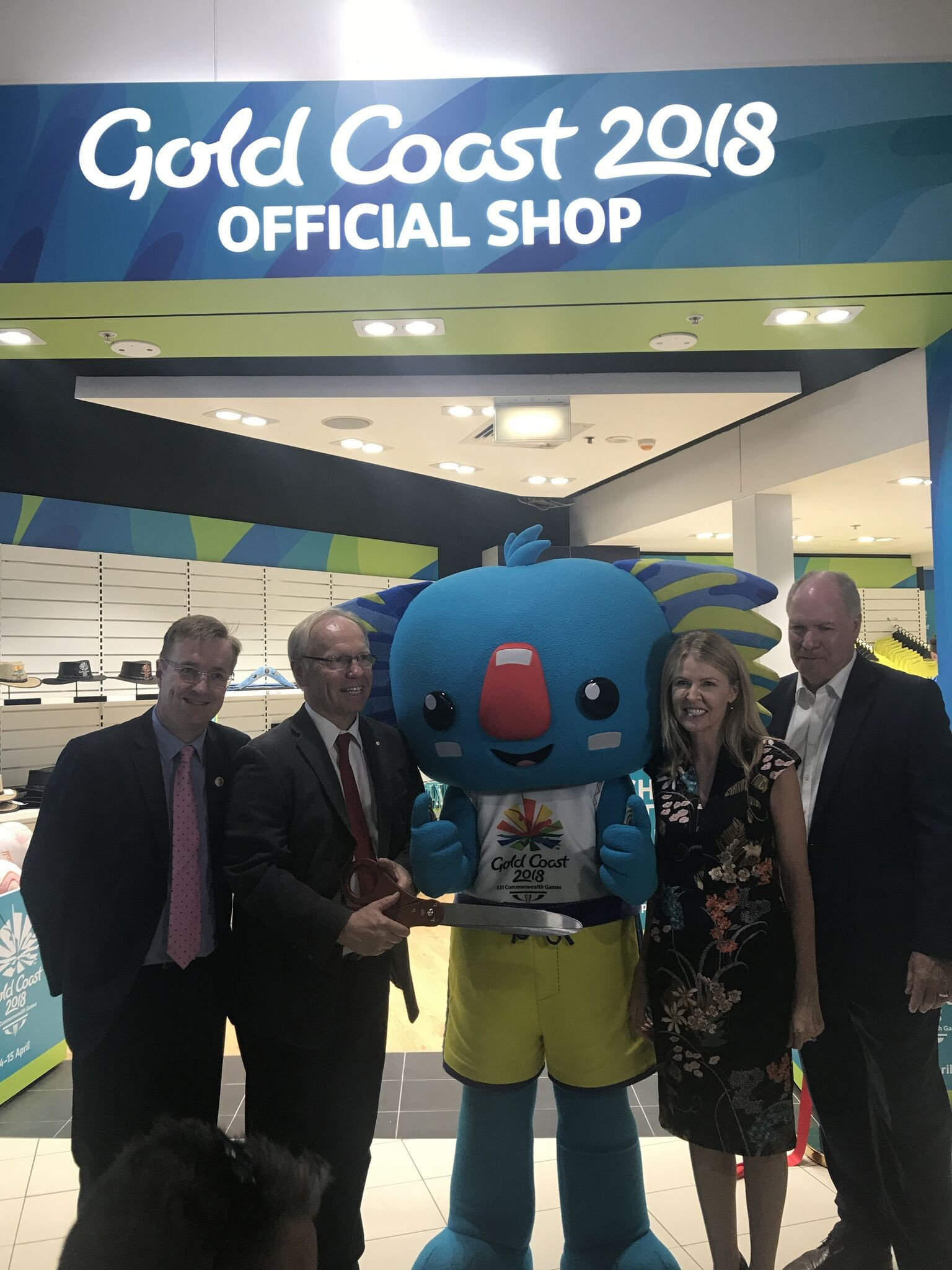 The first Gold Coast 2018 merchandise store at the airport has been opened ©Gold Coast 2018