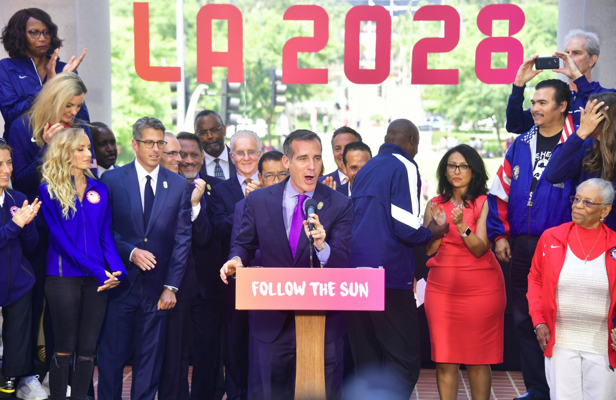 Los Angeles has agreed to host the later Olympics and Paralympics in 2028 ©Getty Images