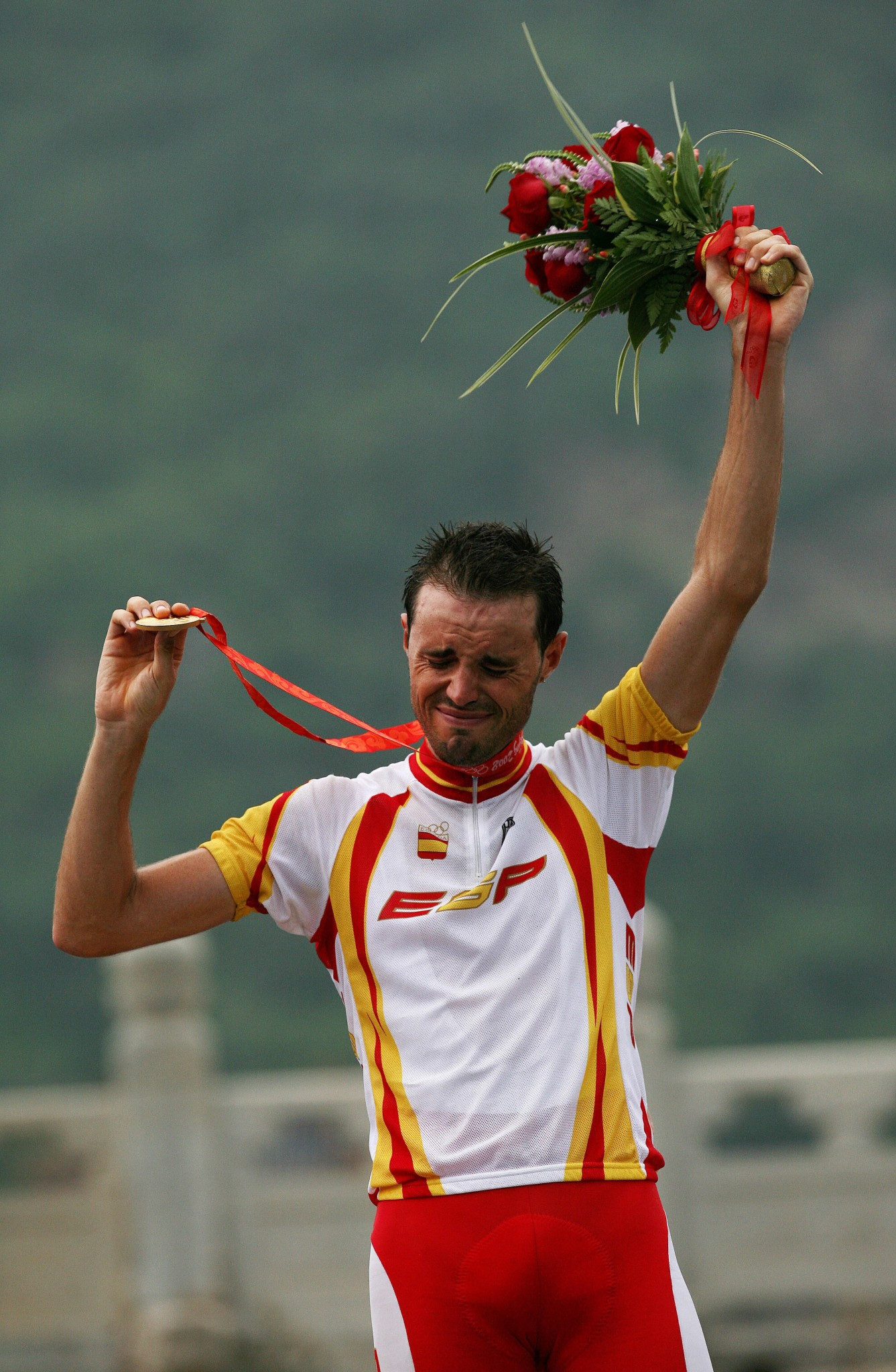 Samuel Sánchez won the Olympic road race title at Beijing 2008 ©Getty Images