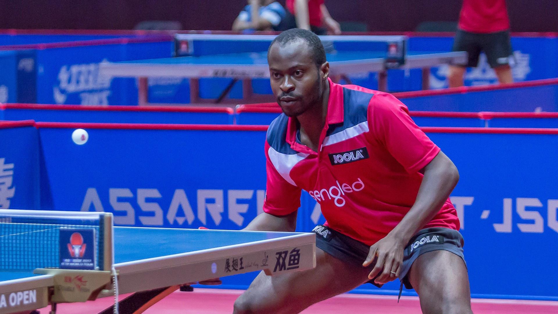 Quadri Aruna of Nigeria, seeded third, progressed to the last 16 of the men's singles tournament ©ITTF