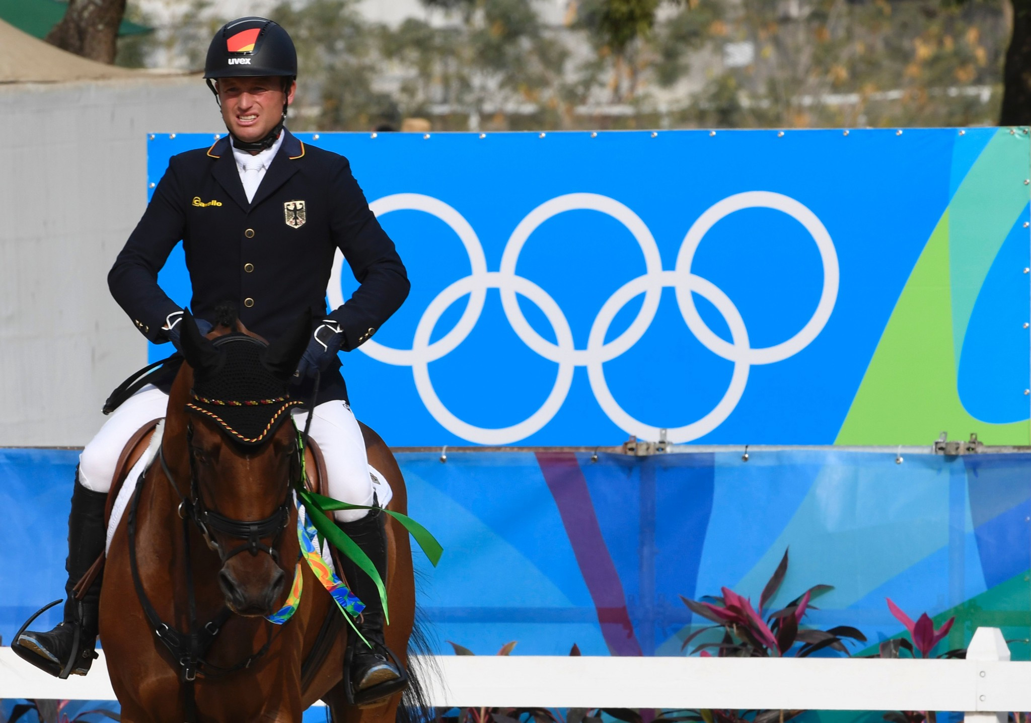 Michael Jung, the favourite, will be in dressage action tomorrow ©Getty Images