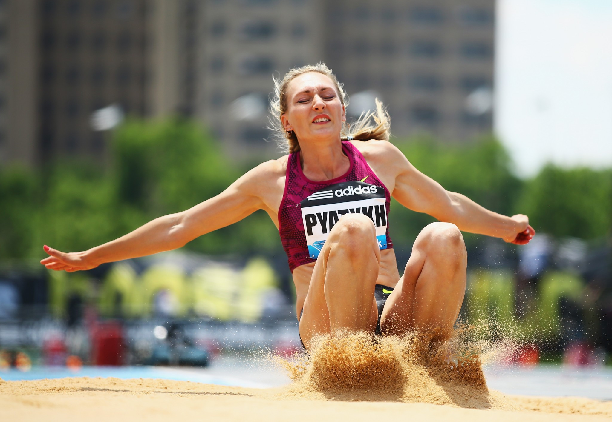 Russian triple jumper Anna Pyatykh has been banned for four years ©Getty Images