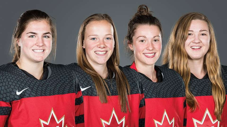 Canada's women's U18 team will be led by four experienced players in the forthcoming series against United States ©HockeyCanada